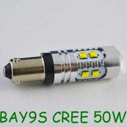 Мощная светодиодная  лампа  SLP LED с цоколем BAY9S (H21W) (H6W) Cree 50W 9-30V Белый