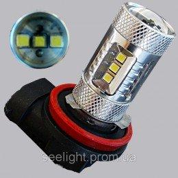 Автомобильная светодиодная лампа с цоколем HB3(9005) в противотуманные фонари 15W + Линза