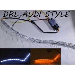 Дневные ходовые огни SL LED, стиль Audi, с динамическим указателем поворота, длина от 50 до75 см.