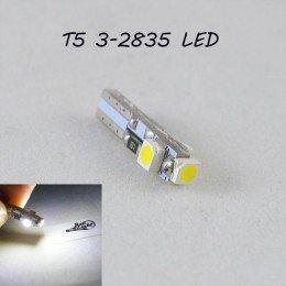 Светодиодная лампа в подсветку с цоколем T5(W2x4,6d)(W1.2W) 3-3528 12V 6000K