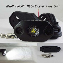 Компактный Led модуль  ALO-Y-2-K  Сree 3*3W 9-36V  IP68/69K  600 Люмен, Ближний свет