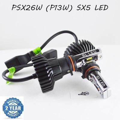 LED лампы в головной свет серии SX5 Цоколь PSX26W, P13W, 25W, 3000 Люмен/Комплект