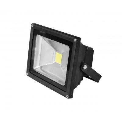 LED Прожектор EUROELECTRIC COB черный 30W 6500K classic