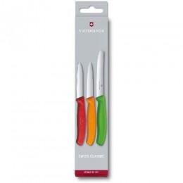 Набор кухонный Victorinox SwissClassic Paring Set 3 ножа  с цветными ручками (Vx67116.32)