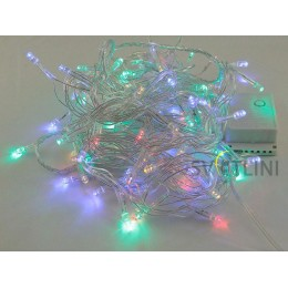 Гирлянда Нить (STRING) 8м, ПВХ, 100 светодиодов. Разноцветная RGB с контроллером