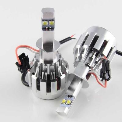 Комплект светодиодных ламп в основные фонари под цоколь Н1 20W 2600 Люмен/Комплект