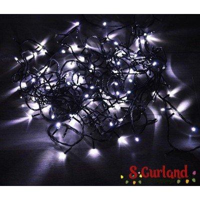 "Гирлянда LED ""Нить"" (String) 200LED 3 мм. 14 м, чёрный провод, белая, линза"