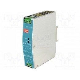 Блок питания Mean Well На DIN-рейку 75.6 Вт, 12V, 6.3 А EDR-75-12