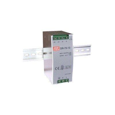 Блок питания Mean Well На DIN-рейку 76 Вт, 12V, 6.3 А DR-75-12