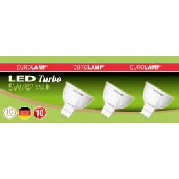 Промо-набор LED Лампа EUROLAMP MR16 3W GU5.3 3000K (3в1)