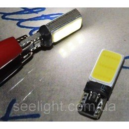 Светодиодная автомобильная лампа в габарит T10 со встроенной обманкой бортового компьютера COB 3W 9-30- Белый
