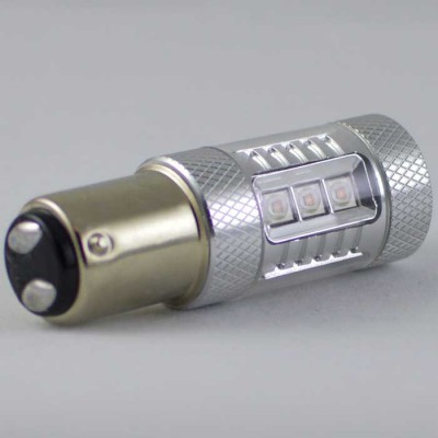 Светодиодная автомобильная лампа с цоколем 1157(P21/5W)(BAY15D) Osram+Cree 80W Жёлтый/Белый