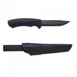 Ніж Morakniv Bushcraft Black Carbon Steel Вуглецева сталь  Чорний колір Чорний клинок