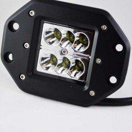 Дополнительная светодиодная фара для монтажа в бампер, кузов 24W  Cree 10-30V Flood