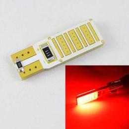 Светодиодная автомобильная лампа SL LED Цоколь T10 (W5W) с обманкой компьютера 12С COB 3W Красный