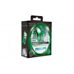 Галогенная лампа H4 Philips 12342CVPGS2 ColorVision зеленый