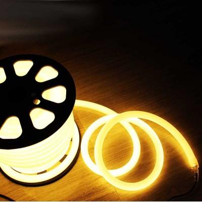 Светодиодный неон, Круглый SL FLEX ( Неон Флекс, FlexNeon) 16 мм. 120-2835 220V Жёлтый
