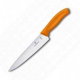 Ніж кухонний Victorinox SwissClassic Carving обробний  19 см помаранчевий (Vx68006.19L9B)
