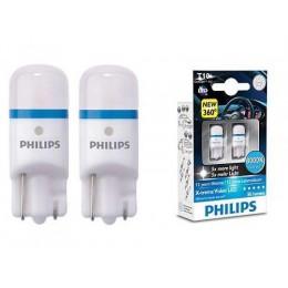 Лампа светодиодная Philips W5W X-Treme Vision LED, 8000K, 2шт/блистер
