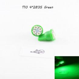 Светодиодная автомобильная лампа в подсветку с цоколем Т10(W5W) 1210-4 (Зеленый)