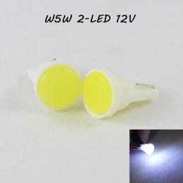 Светодиодная автомобильная лампа T10(W5W) 2-LED 12V 7000K Холодный Белый