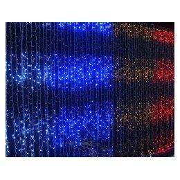 """Гирлянда светодиодная """"Водопад"""" 320ламп(LED), уличная. Цвет светодиодов: белый, синий, разноцветный, красный."""