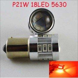 Светодиодная автомобильная лампа SLS LED с цоколем R5W, 1156, P21W, BA15S 18-5630led 9-30V Красный
