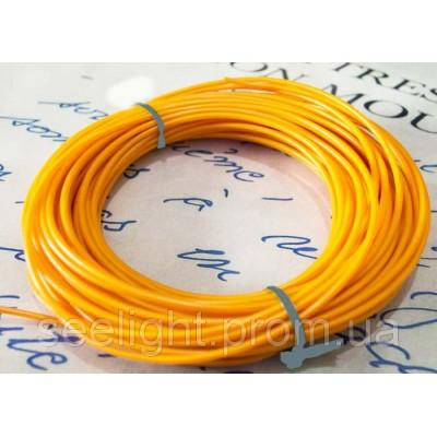 Электролюминесцентный провод (холодный гибкий неон) III поколение, диаметр- 2.6мм., цвет- оранжевый