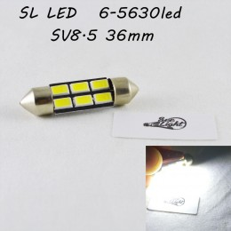 Светодиодная  лампа SLS LED цоколь SV8,5(C5W) 36mm 6-5630 Белый